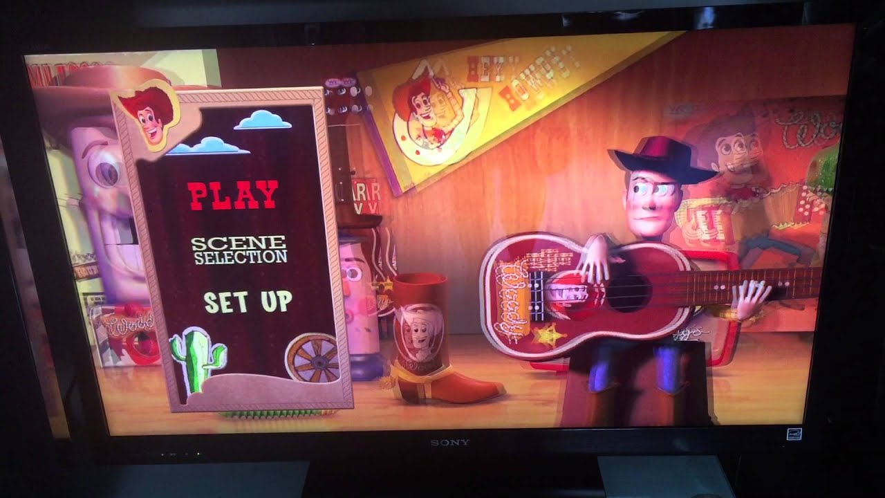 pixar 3b toy story 2 blu ray 3d menu youtube. Black Bedroom Furniture Sets. Home Design Ideas
