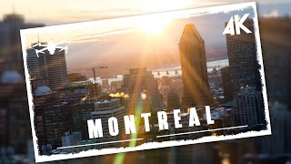 Flying over Montreal in 4K | Vibrant city in Canada