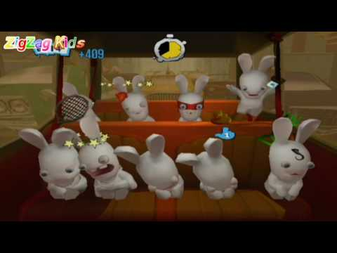 Rayman Raving Rabbids 2 | All Trips Full Movie Game | ZigZag Kids HD