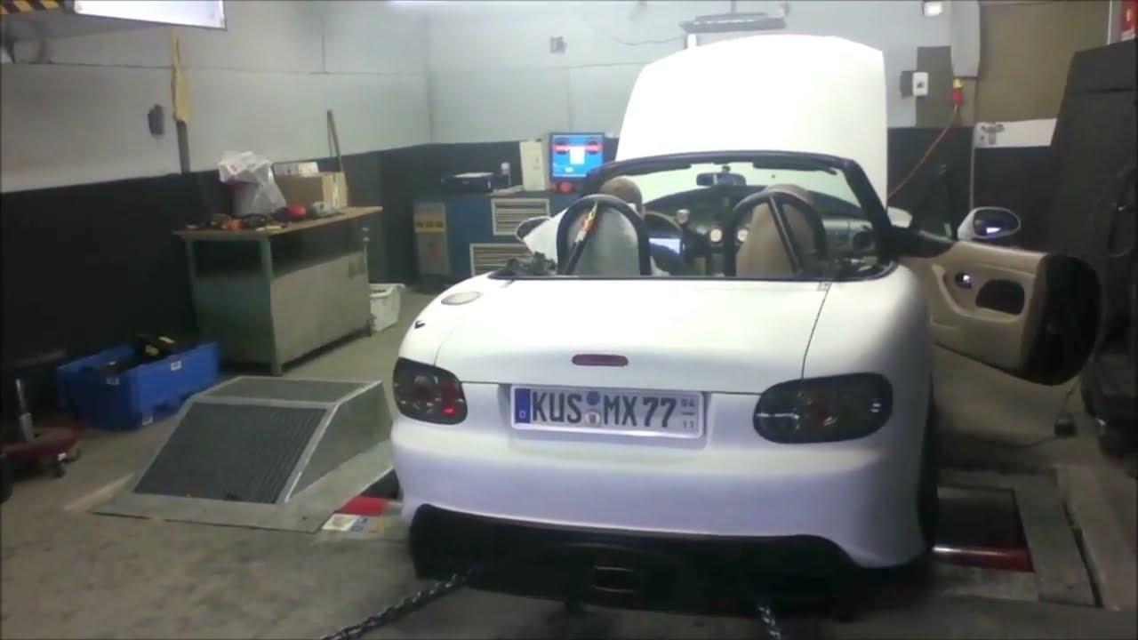 Mazda Mx5 1 8 Rotrex C30-74 Ms3pro On Sps Motorsport Dyno  Generationmx  07:11 HD