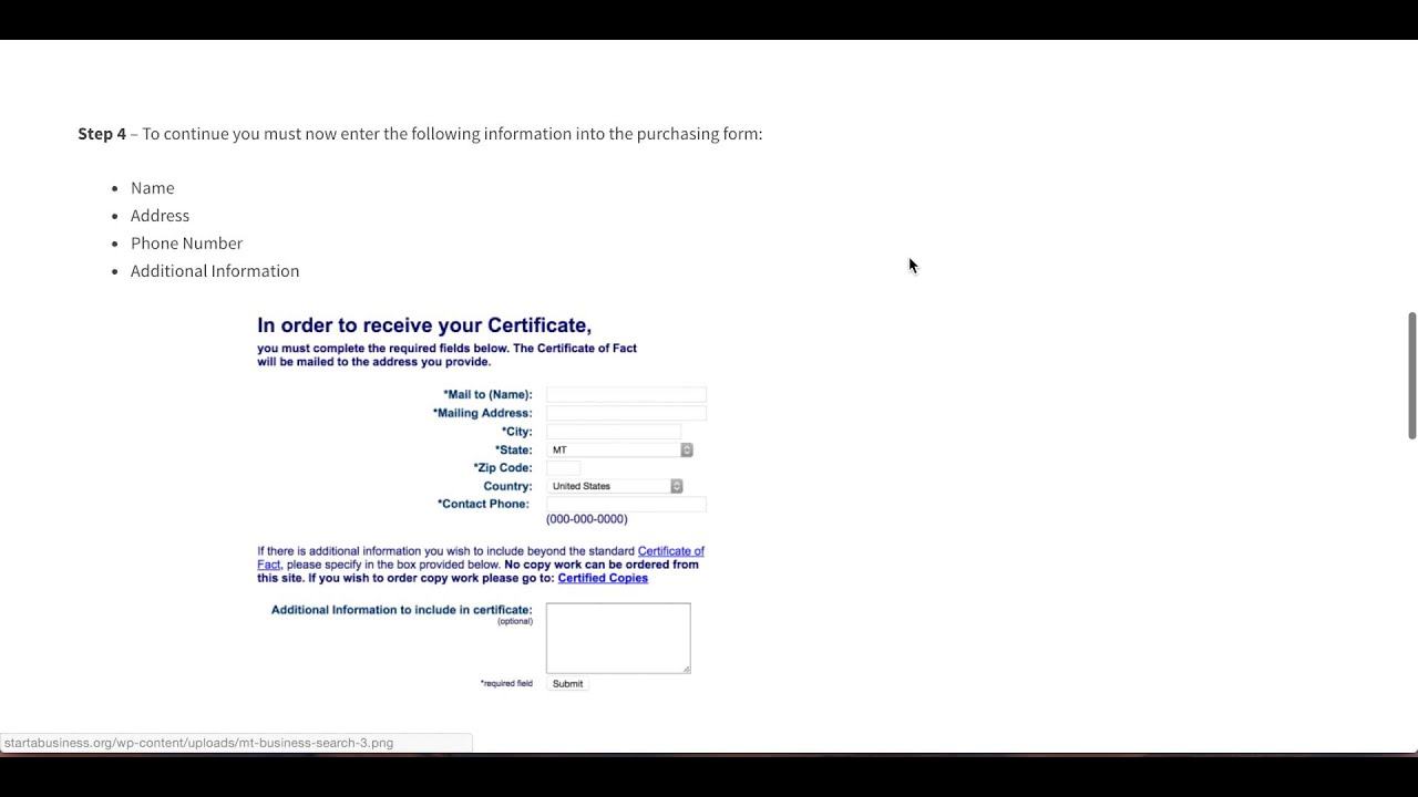 How To Get A Certificate Of Fact In Montana Online Youtube