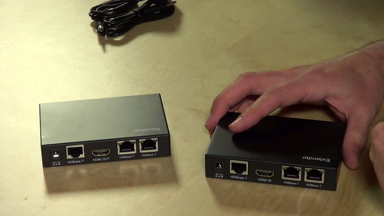 Monoprice HDMI Extender Kit Review - Convert HDMI to Cat 5 / 5e / 6  ethernet cable! 110225 !