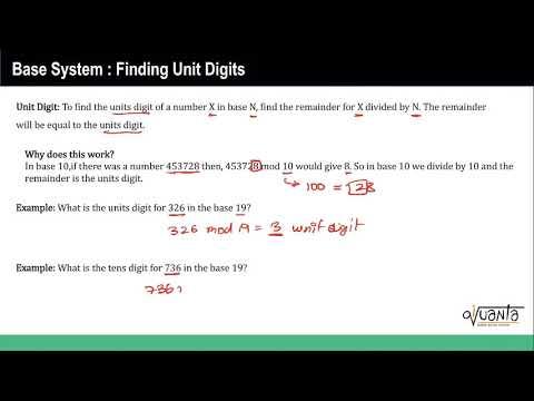 Number System Concept : Base System Finding Unit Digits
