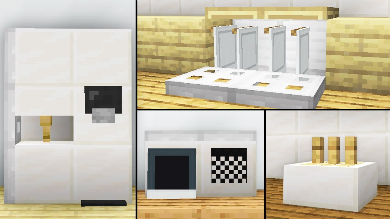 10 Easy Kitchen Furniture Ideas Minecraft Map