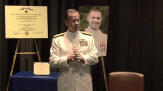 Adm. Mike Mullen Presents Silver Star Awarded to Lt. j.g. Francis L. Toner IV Full (Part 2 of 2)