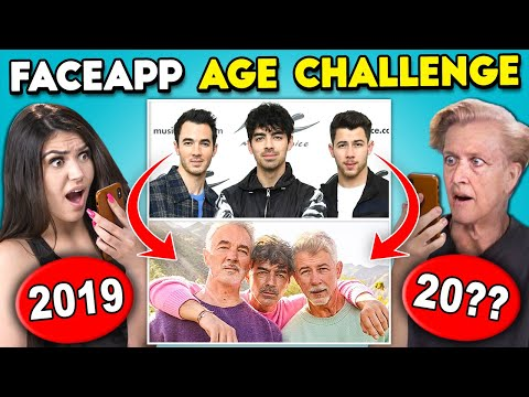 Teens React To FaceApp Age Challenge Miley Cyrus Jonas Brothers LeBron James