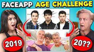 Teens React To FaceApp Age Challenge (Miley Cyrus, Jonas Brothers, LeBron James)