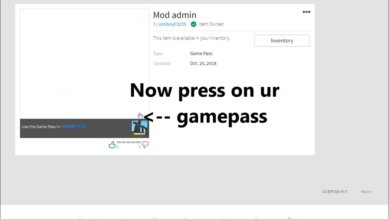 How To Make An Admin Gamepass On Roblox 2018 | Gameswalls org
