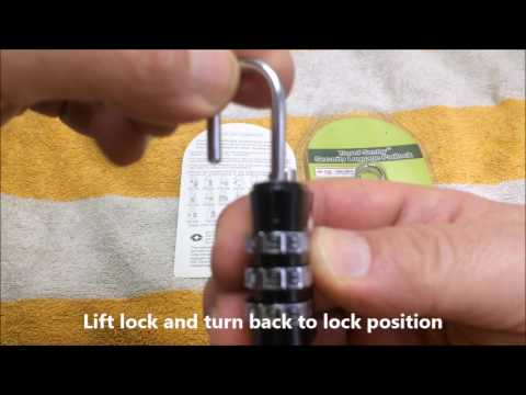 How to reset your TSA lock ?