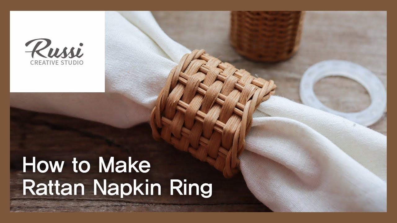 테이블 데코 라탄 냅킨링 2. 만들기 [라탄공예] 취미 수업 온라인클래스66:Rattan Craft : Make rattan napkin ring, guide,테이블웨어