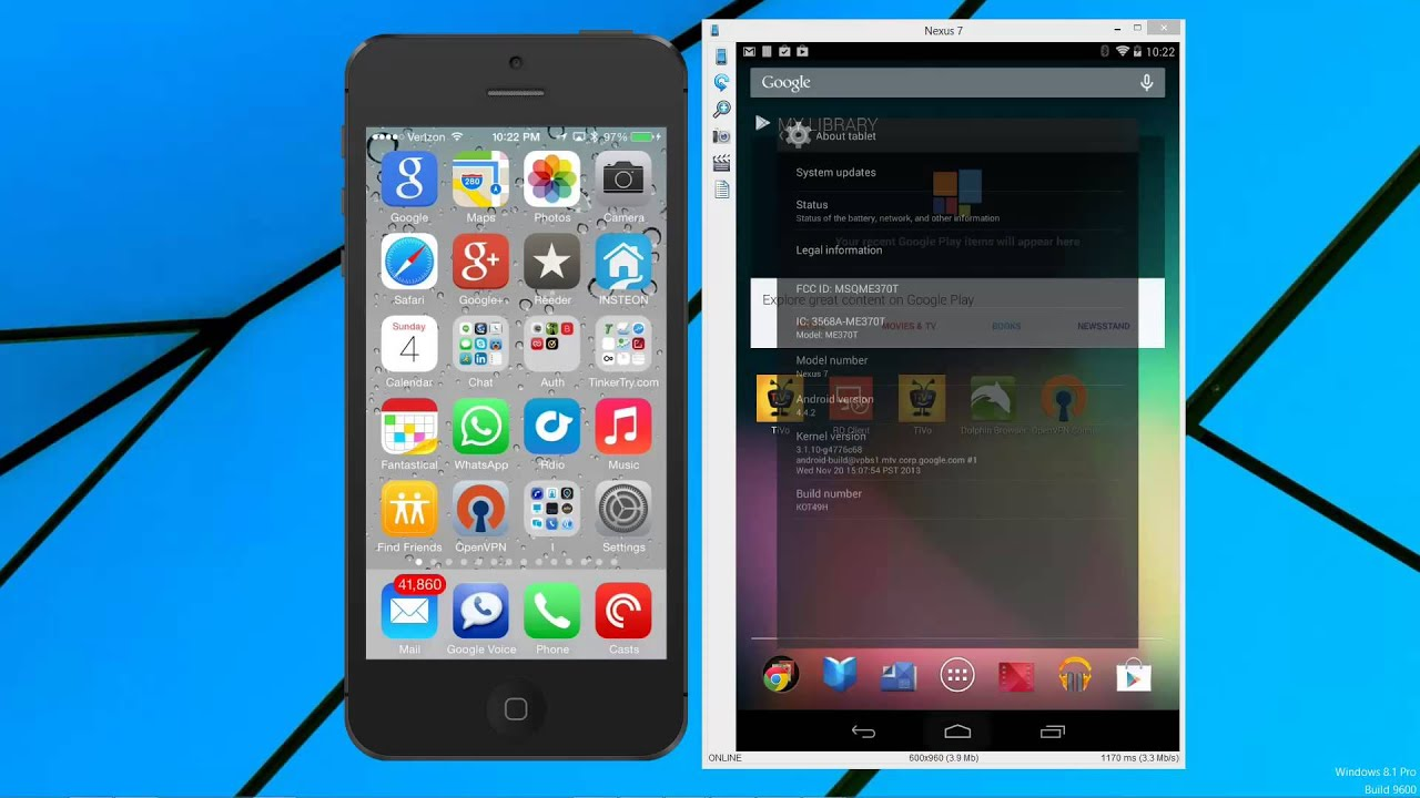 Display your iOS and Android devices on Windows, using Reflector and Droid  @ Screen