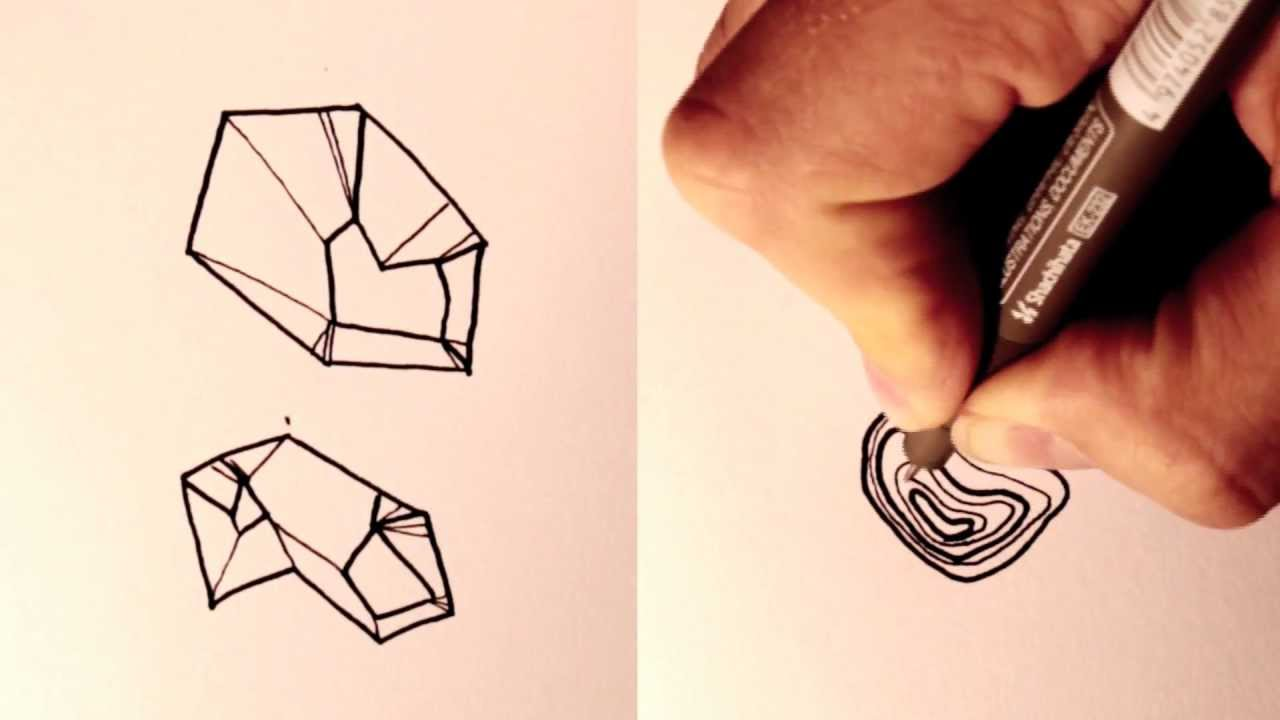 draw rocks and boulders