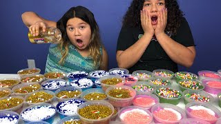 DIY SLIME CHRISTMAS PRESENTS FOR SCHOOL - MAKING 4 GIANT SLIMES FOR OUR FRIENDS AT SCHOOL