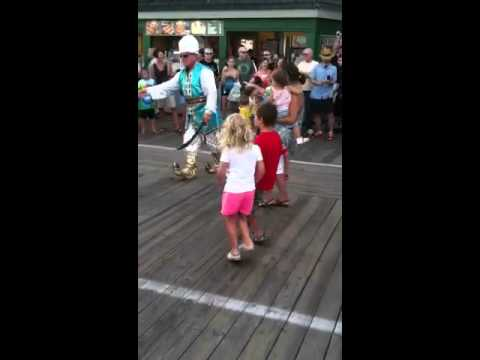 Casey and Ethan tearing up the Boardwalk