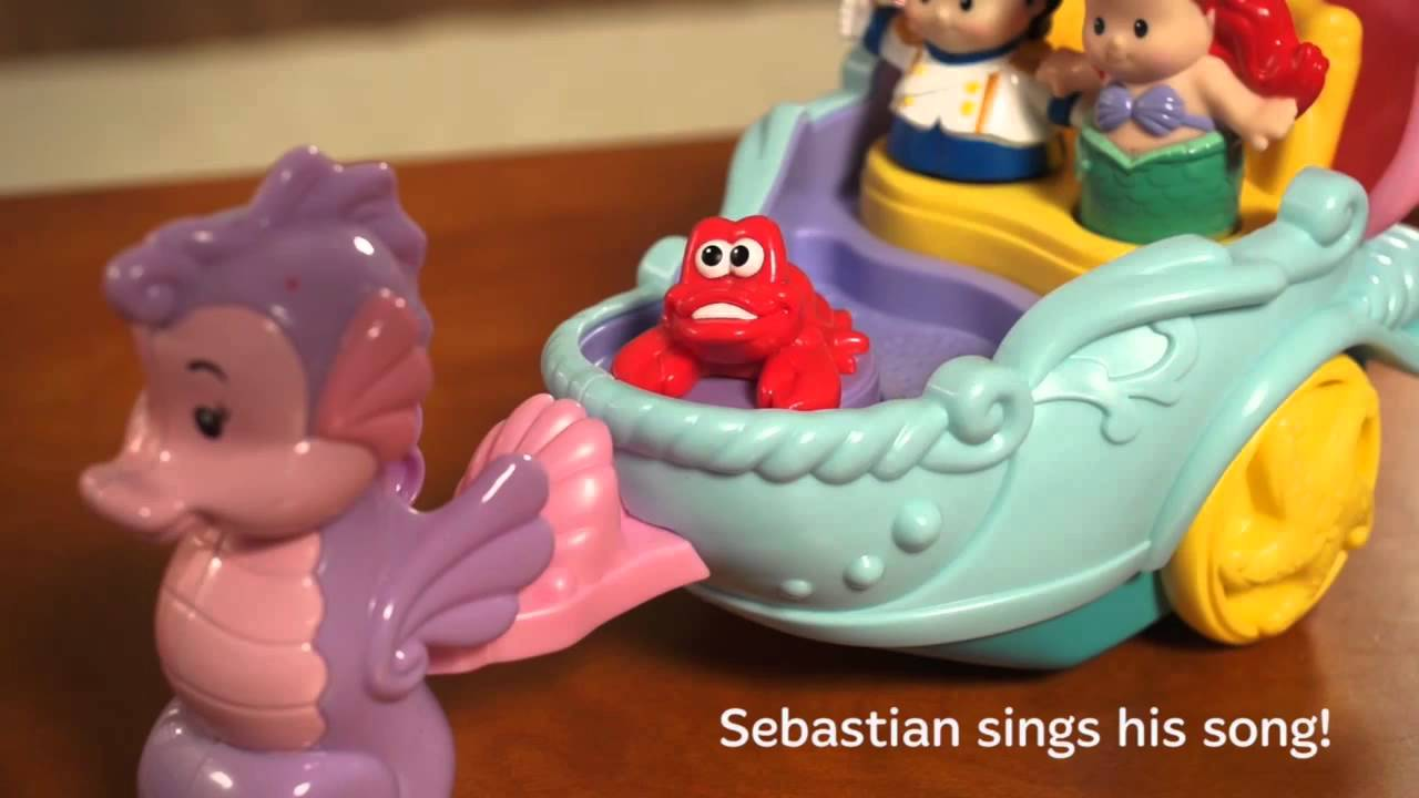 fisher price little people disney ariels coach youtube