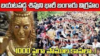 160 KGలమహాశివుని విగ్రహనికి వందల పాములుకాపల |160 Kg Gold Statue Of Lord Shiva Found | SumanTv Life