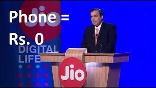 Jio feature phone Price = 0 | Rs.153 Plan | India Ka Smartphone JIO Phone