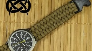 Beginner Paracord: Single Strand Trilobite Buckle Watchband (Paracord 101)