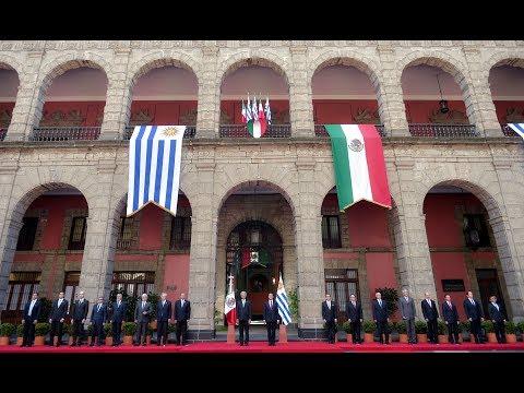 Visita Oficial Presidente de Uruguay, Tabaré Vázquez Rosas: Ceremonia de Bienvenida