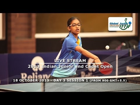 Reliance 2013 Indian Junior & Cadet Open - Day 3 Morning Ses