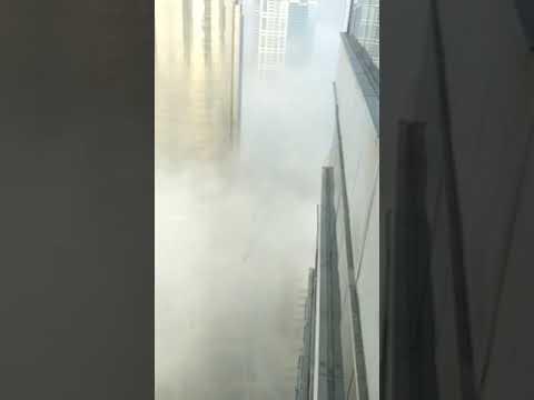 Beautiful view from building in Dubai
