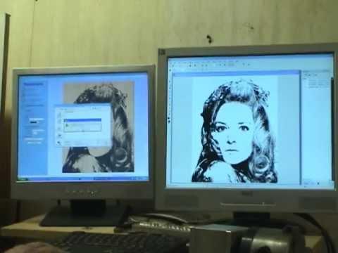 1W Laser Diode Engraving Photo Using Corel, PhotoVcarve, CNC Router  & Mach 3