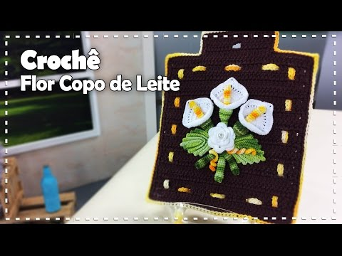 FLOR COPO DE LEITE EM CROCHÊ com Maria José - Programa Arte Brasil - 04/05/2017