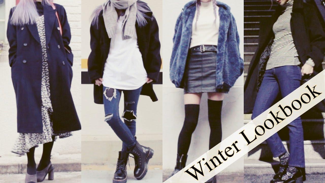 Winter Lookbook Black Outfits Korean Style Jenny Crush Youtube