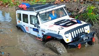 RC CARS 4x4 MUDDING & WINCH RESCUE ACTION 🍂 RC Crawler & Scaler Osnabrück