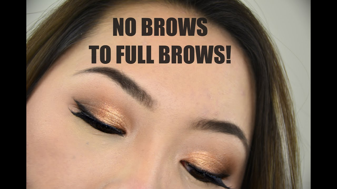 PERFECT, NATURAL EYEBROWS for SPARSE / ASIAN BROWS ...