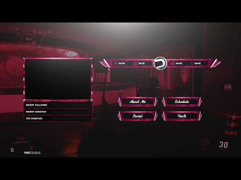Free Twitch Live Stream Overlay Package Template