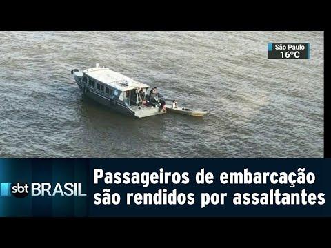 200 passageiros de embarcação são rendidos por assaltantes no Pará | SBT Brasil (10/08/18)