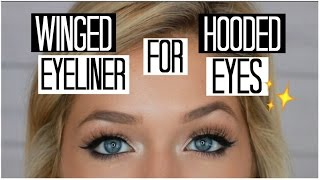 How to do winged eyeliner for hooded eyes