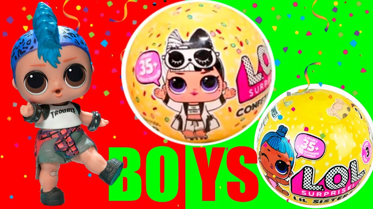 No Bag Lol Surprise Lil Punk Boi Boy Confetti Pop Series 3 Wave 2 Doll