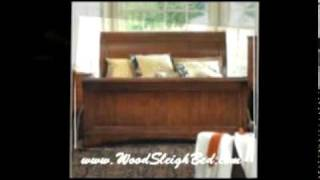 The Wood Sleigh Bed - Always In Style