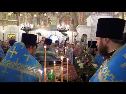 Всенощное бдение в Покровском храме накануне праздника Успения Божией Матери. Вынос Плащаницы