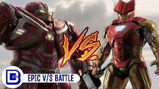 Hulkbuster Vs Thorbuster   Superhero Showdown In Hindi   BlueIceBear