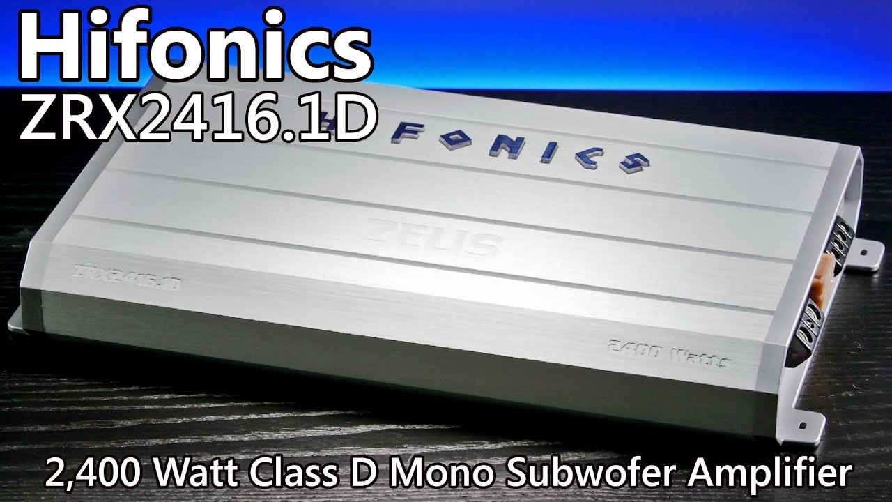 Hifonics Zeus ZRX2416.1D 2,400 Watt Car Amplifier on