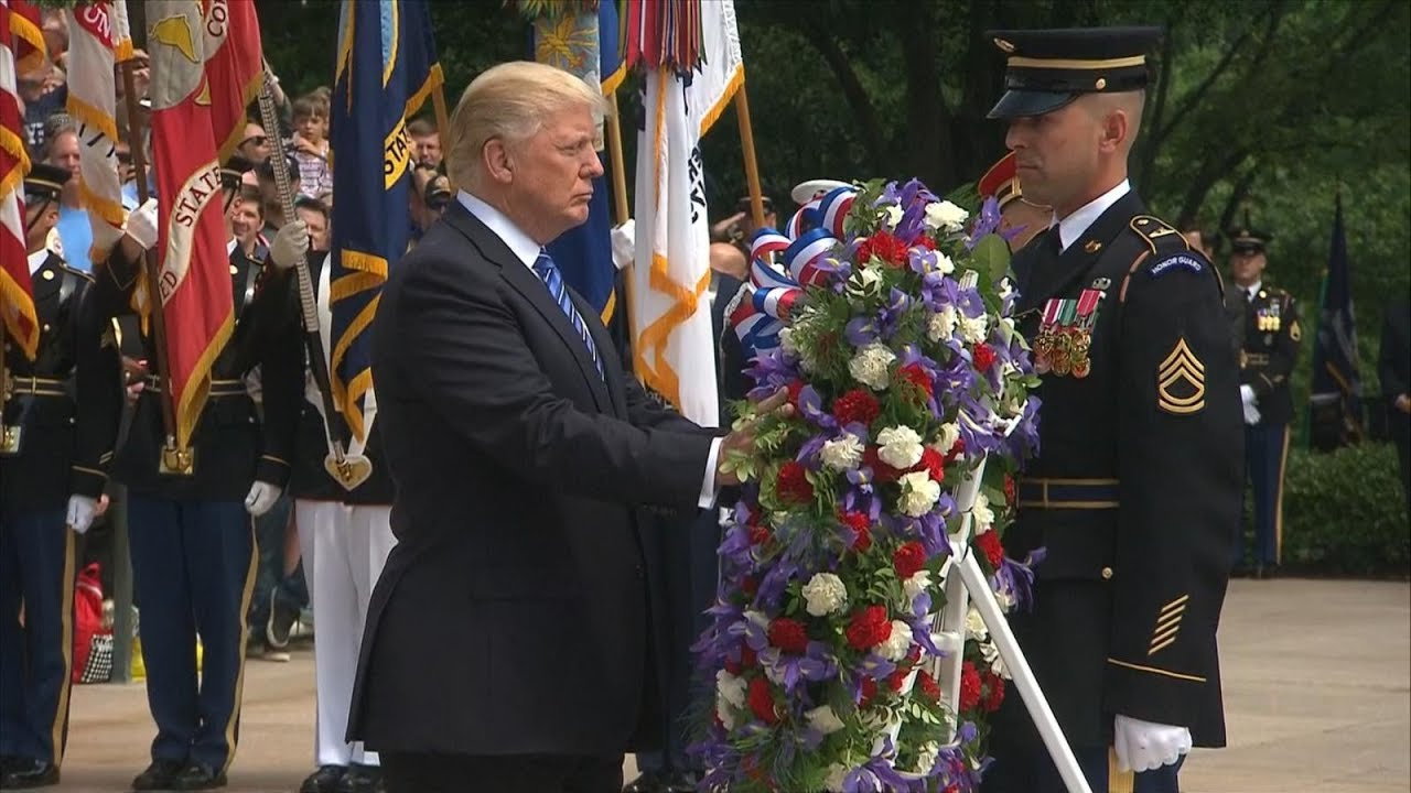 Trump marks Memorial Day at Tomb of the Unknown Soldier, Fort ...