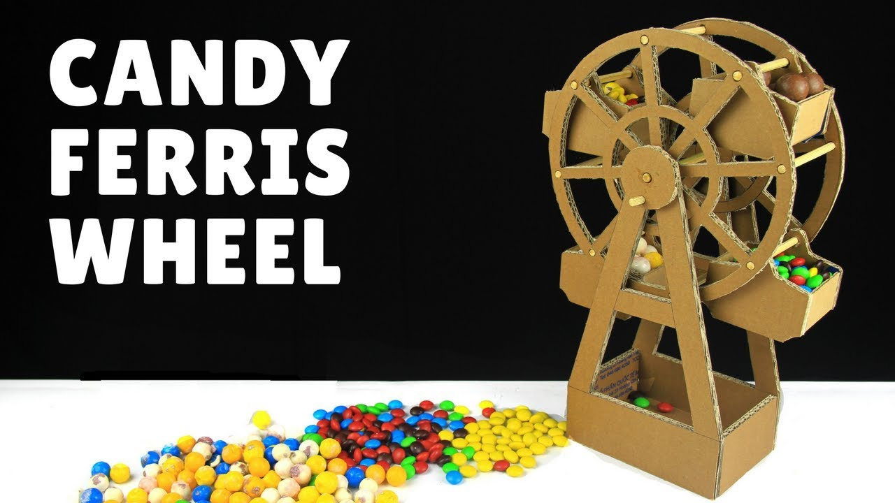 How to make Candy Ferris Wheel for party - Just5mins - YouTube
