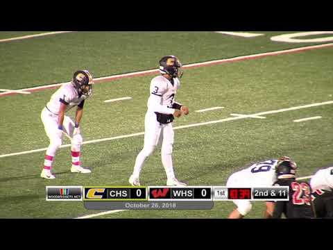 Varsity Football CHS VS WHS, October 26, 2018