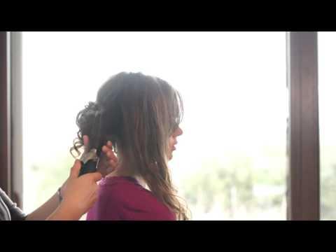 Curly Low Bun Hair Tutorial 2018