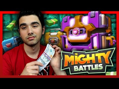 SPENDING 20K in Mighty Battles $$$ MASSIVE CRATE OPENING and DESTROYING ENEMY BASES!