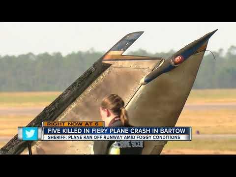 Plane crash in Bartow kills 5 people