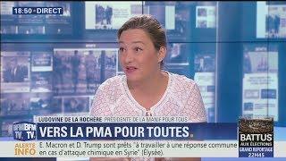 Excellente intervention de Ludovine de la Rochère sur la PMA Sans Père (BFMTV,27/06/17,19h)