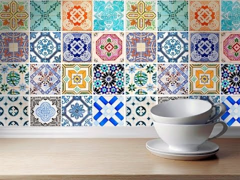 Adesivi per piastrelle Decorazioni per bagni e cucine - YouTube