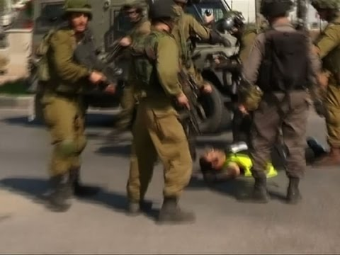Raw: Palestinian Shot After Stabbing Soldier