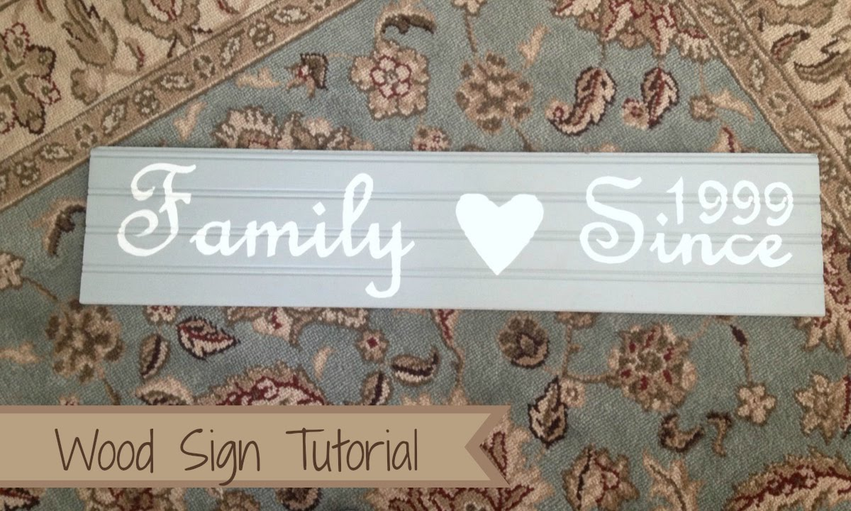 how to diy wood sign tutorial youtube - Wooden Signs With Sayings