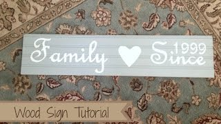 How To: Diy Wood Sign Tutorial