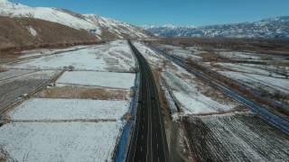 Drone ile çekilmiş Karayolu Görüntüsü